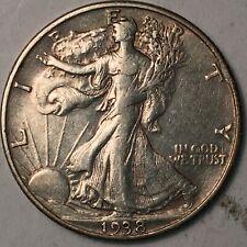 1938-D Walking Liberty Silver Half Dollar XF Key Date!!