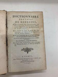 LAVOISIEN, Dictionnaire portatif de médecine, d'anatomie, de chirurgie. 1793.