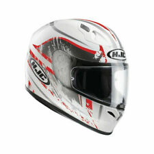 HJC FG-17 Strike Full Face Motorcycle Motorbike Helmet White Red Size Large