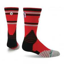 STANCE FUSION BASKETBALL NBA CORE CREW SOCKS TORONTO RAPTORS GREY BLACK RED LG