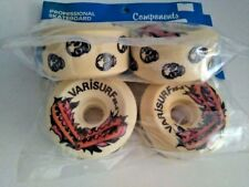 VINTAGE VARISURF WHITE SKATEBOARD WHEELS - 95A 65mm - OLD SCHOOL - VARIFLEX XP