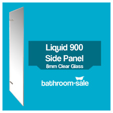 Liquid 900mm Side Panel Chrome Frame Clear Glass - 8mm | RRP: £499