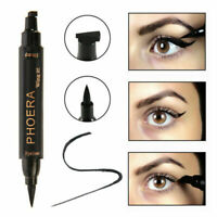 PHOERA WATERPROOF BLACK LIQUID CAT EYELINER WING STAMP 2 IN 1 EYE LINER VAMP PEN