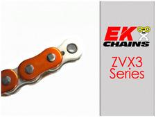 EK ZVX3-520 MOTORCYCLE CHAIN 120 LINKS TENSILE STRENGTH 9400 lbs METALLIC ORANGE
