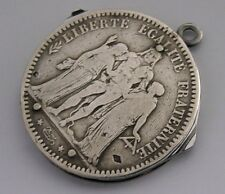 UNUSUAL FRENCH SILVER COIN MULTI TOOL c1920 ANTIQUE