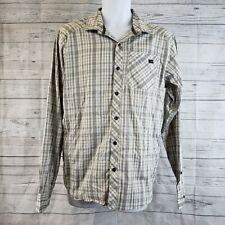 Arcteryx Mens Shirt Sz Medium Gray Plaid Long Sleeve Button Front