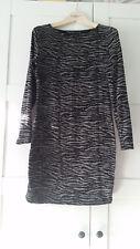 Kleid schwarz-grau gemustert Gr. 36