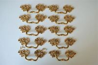 10 superb large solid brass Rococo drawer handle Louis XV furniture pull 2005