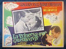 AUDREY HEPBURN ROMAN HOLIDAY GREGORY PECK CLOSEUP LOBBY CARD #5 BEST 1953 N MINT