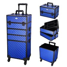 AW® 4 in 1 Pro Rolling Makeup Cosmetic Case Train Trolley Hairdressing Organizer