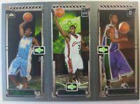 2003-04 Topps Rookie Matrix JBM LeBron James Rookie RC, Carmelo Anthony, TJ Ford