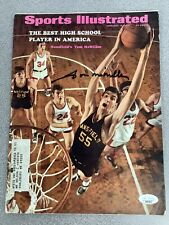 Tom McMillen Signed Sports Illustrated Magazine Basketball Autograph JSA 2/16/70