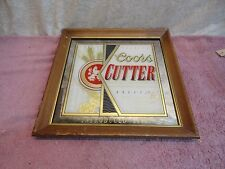"Vintage LIMITED EDITION  Wood Framed Coors Cutter  Beer Mirror Sign 15"" X 15 """