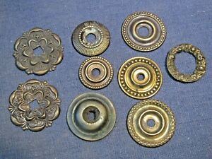 Old brass round decorative backplates  9