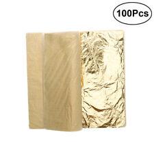 100 Blätter Schlagmetall Blattmetall vergolden Nachahmung Gold Leaf Dekor