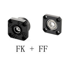 3 set CNC part Supports Bearing Mounts FK12 FF12 for SFU1605 Ball Screw End