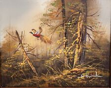 Ferdinand - Faisan dans la forêt Huile sur panneau - circa 1980 - signée