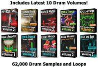 62000 Drum Loops Mega Pack 2 WAV Samples Ableton Cubase Logic FLStudio Pro Tools
