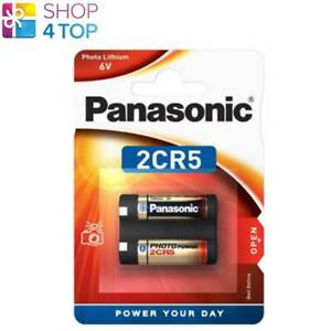 Panasonic Litio Power 2CR5 Batterie 6V DL245 Foto Fotocamera Exp 2030 Nuovo