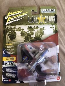 New Johnny Lightning D-Day 75 Years 6 WWII North American P-51D Mustang Ver B