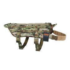 Tactical K9 Dog Harness Medium Dog Service Vest Molle Nylon Hunting Camouflage