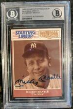1989 KENNER STARTING LINEUP #10 MICKEY MANTLE SIGNED CARD YANKEES BAS BECKETT
