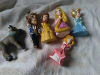 5 x Disney Princess Large Figure Set Beauty Beast Cinderella Rapunzel