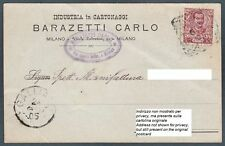 MILANO CITTÀ 31 CARTA CARTONE Cartolina COMMERCIALE 1905