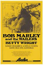 Bob Marley & Wailers at Santa Cruz Concert Poster 1979
