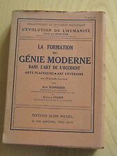 La formation du génie moderne dans l'art de l'occident plastique littéraire