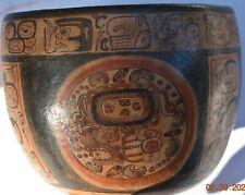 "Sale! Pre Columbian Mayan Crypt Bowl, Glyphs 5"" Prov"