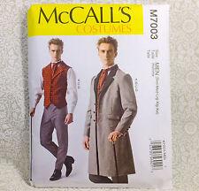McCall's 7003 Steampunk Men Costume Sew Pattern S-Xxl Period Vest Coat Pants Tie