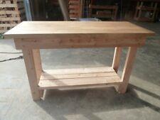 Wooden Work Bench 1.2m long solid OAK top by Gardenlarch ltd