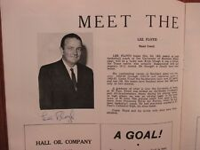 LEE  FLOYD (Died-1974) Signed 1971 Southern Mississippi Men's Basketball Program