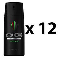 12 x Axe Africa Deodorant Body Spray For Men 150ml 5.07 oz / Each Pack of 12