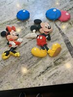 Walt Disney Mickey Mouse & Mini Mouse Fabric Dimensional Wall Hangers