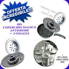 COPERCHIO MAGICO OFFERTA 2 PEZZI DIAM32+36+WOK + SET PORTA SPEZIE