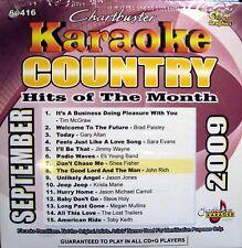 Chartbuster Karaoke - CB60416 CDG  (September 2009)