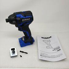 """Kobalt 24-Volt 1/4"""" Brushless Impact Kobalt XTR 24V KXID 124B-03 TOOL ONLY"""