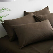 1x/2x New Pure Natural Cotton King Size Pillow Case Cover Slip 54x94 cm
