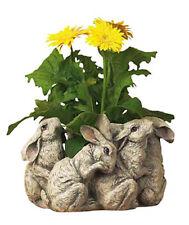Centerpieces & Table Decor - Playful Bunnies Centerpiece - Bunny Rabbit Planter