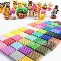 50 Farben Soft Polymer DIY Ton Clay Ofen & Modellieren Fimo Ton Kit Geschenk