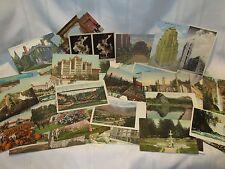 42 Vintage Postcards - Linen - Photochrom - Street Views - US States