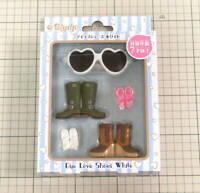 Takara Tomy CWC Neo Blythe Doll Dress Eye Love Shoes White