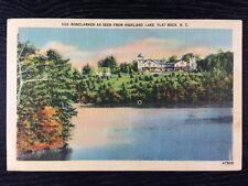 Bonclarken Seen From Highland Lake in Flat Rock, North Carolina Linen Postcard