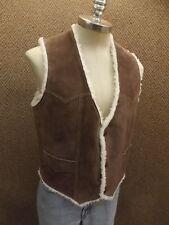 UNWORN Vtg Van Dyck Genuine Suede Leather & Faux Shearling Vest Mens 40 Western