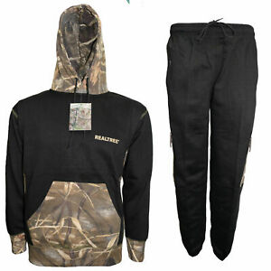 Men's Jungle Print Overhead Tracksuit Camouflage Realtree Hoodie & Joggers S-XXL