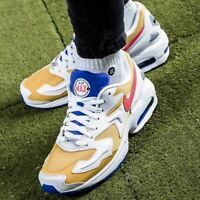 NIKE AIR MAX 2 LIGHT Trainers Gym Casual - White - Size 7.5, 8, 8.5, 9, 9.5