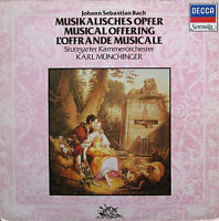 Bach Musical Offering Karl Munchinger Decca Serenata SA 29 NM/EX
