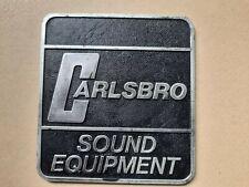 More details for vintage carlsbro amplifier / speaker cabinet logo